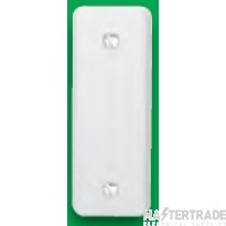 Crabtree Capital White 86x33mm Blanking Plate 1 Gang Architrave 4003