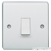 Crabtree Capital White 20A Switch 1 Gang DP 4015