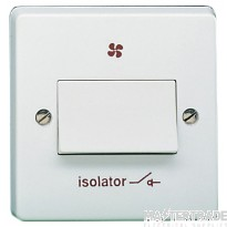 Crabtree Capital White 10A Isolator 1 Gang TP 4017/1