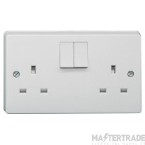 Crabtree Capital White 13A Socket 2 Gang Switched SP Dual Earth 4306