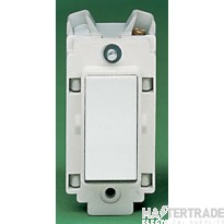 Crabtree Rockergrid White 20A Grid Switch 1 Way 4450