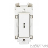 Crabtree Rockergrid White 20A Grid Switch 1 Way DP c/w Key 4461/ELT