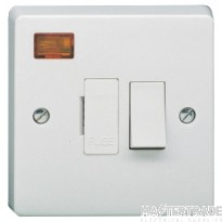 Crabtree Capital White 13A Connection Unit DP Switched Fused c/w Neon 4827/3