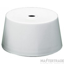 Crabtree LSC White 6A Ceiling Rose c/w 3 Pin Plug 5001/CVR