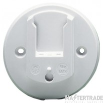 Crabtree LSC White 6A Ceiling Outlet 3 Pin 5003