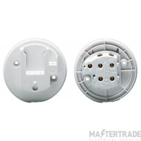 Crabtree LSC White 6A Ceiling Outlet 4 Pin 5011