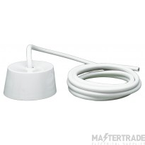 Crabtree 6A 1.0mmx3m Ceiling Rose 4 Pin Plug-In c/w HR PVC Flex 5018/3