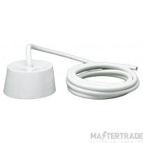 Crabtree 6A 1.0mmx3m Ceiling Rose 3 Pin Plug-In c/w LSF Flex 5019/3