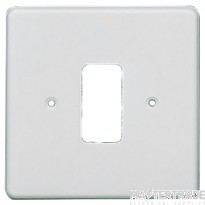 Crabtree Rockergrid White Frontplate 1 Gang Rockergrid Flush 5571
