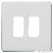 Crabtree Rockergrid White Frontplate 2 Gang Rockergrid Flush 5572