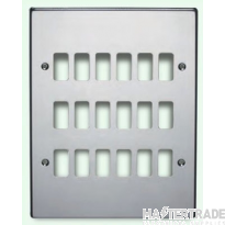 Crabtree Rockergrid White Frontplate 18 Gang Rockergrid Flush 6570/18WH