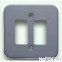 Crabtree Rockergrid Birch Grey Frontplate 2 Gang Rockergrid Surface 6582/BG