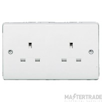 Crabtree Capital White 13A Socket 2 Gang Unswitched 7257