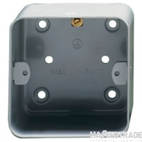Crabtree Capital Birch Grey 43mm Box 1 Gang Surface 9211/PBG