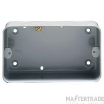 Crabtree Capital Birch Grey 43mm Box 2 Gang Surface 9214/BG