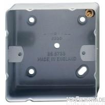 Crabtree Capital Birch Grey 36mm Box 1 Gang Surface 9221/BG