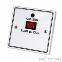 C-Tec NC917L Standard Call Push with Protruding Button, No Reset, No Remote