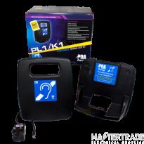 Portable 1.2m2 hearing loop system c/w wall mounting storage shelf PL1/K1