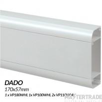 MK Prestige 3D Dado Trunking 3 metre Kit
