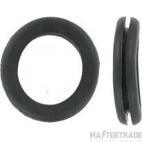 Deligo CG16 Open Grommet 16mm PVC Black