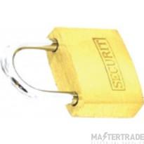 Deligo PL50 Security Padlock 50mm Brass