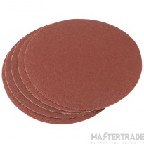 Draper 23354 Five 200mm 60 Grit Hook And Eye Backed Aluminium Oxide
