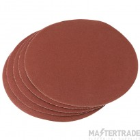Draper 23358 Five 200mm 100 Grit Hook And Eye Backed Aluminium Oxide