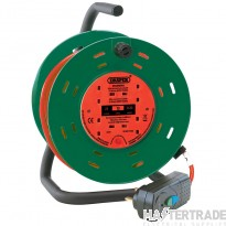 Draper 26341 230V Four Socket Garden Cable Reel With RCD Adaptor (25M)