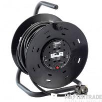 Draper 34162 230V Four Socket Industrial Cable Reel (25M)