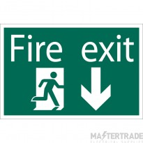 Draper 72446 SS32 Fire Exit AD Sign