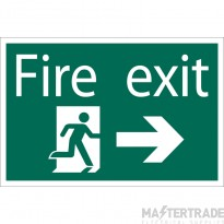Draper 72447 SS33 Fire Exit AR Sign