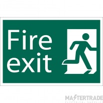 Draper 72449 SS35 Fire Exit Right Sign