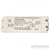 ECOPAC LED DRIVER ELED-25-12D SERIES 25W 12V DAli