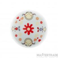 88973 Junior2 2 Light Child's Flush Ceiling Lamp