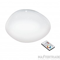Eglo 97577 Sileras LED Wall/Ceiling Light In White With Crystal Effect - Dia: 450mm