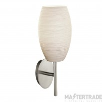 Eglo 97588 Batista 3 One Light Wall Light In Satin Nickel With White Glass Shade
