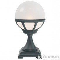 Norlys B3 BLACK O Bologna Outdoor 2 Light Pedestal Light In Black With Opal Shade