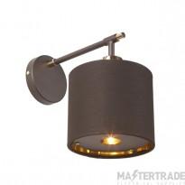 BALANCE1 BRPB Balance 1 Light Wall Light In Brown And Polished Brass