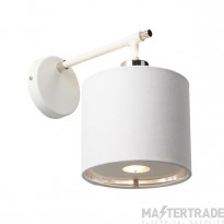 BALANCE1 WPN Balance 1 Light Wall Light In White And Polished Nickel