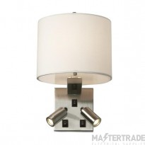 Elstead BELMONT/3W Belmont 3 Light Wall Light In Brushed Nickel With White Shade