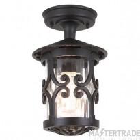 Elstead BL13A Hereford exterior, black, flush porch lantern, IP23