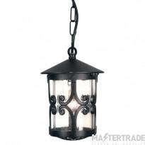 Elstead BL13B Hereford exterior black porch chain lantern, IP23