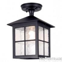 Elstead BL18A Winchester exterior, black, flush porch lantern, IP23
