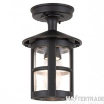 Elstead BL21A Hereford exterior black flush porch light, IP23