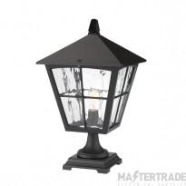 Elstead BL33 Edinburgh black aluminium exterior pedestal lantern, IP43