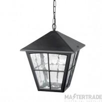 Elstead BL38 Edinburgh exterior black hanging porch lantern, IP20