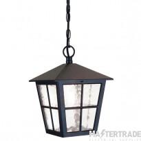 Elstead BL48M Canterbury exterior black hanging porch lantern, IP20
