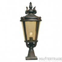 Elstead BT3/L Baltimore Large exterior pedestal lantern, IP43