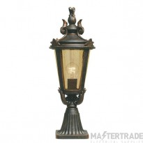 Elstead BT3/M Baltimore Medium exterior pedestal lantern, IP43