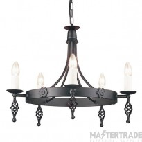 Elstead Belfry BY5 5 Light Ceiling Pendant In Black Wrought Iron